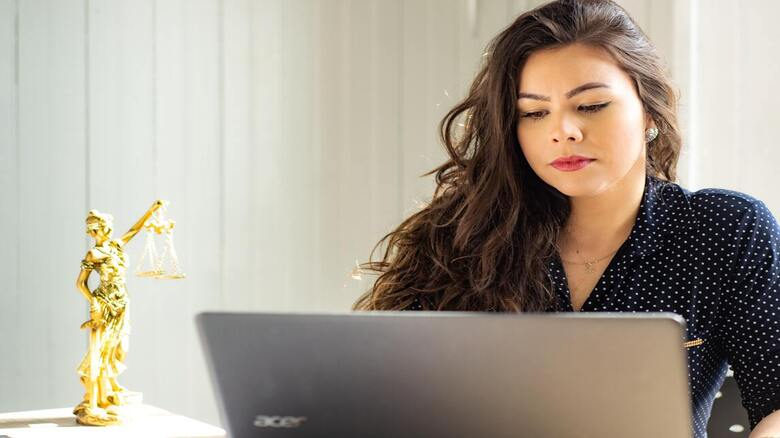 Woman on a laptop